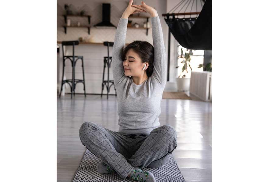 Un tapis yoga écologique pour se remettre au sport à la maison